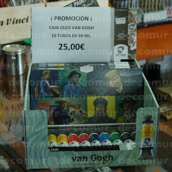 Caja de Oleo Van Gogh 10 tubos 40ml