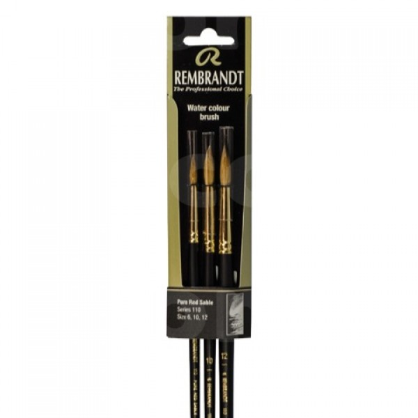 Rembrandt set de pinceles para acuarela serie 110 (n.º 6-10-12)
