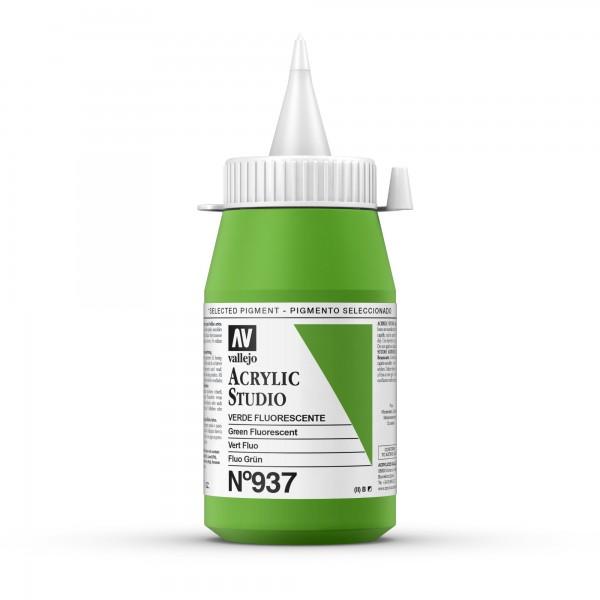 Acrylic Studio Vallejo - 500ml - Número: 937 Color: Verde Fluorescente