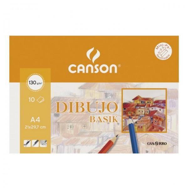 Canson - Papeles Guarro Dibujo Basik - 150gr - A4 - 10 Hojas