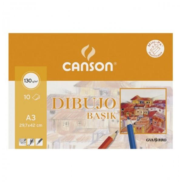 Canson - Papeles Guarro Dibujo Basik - 150gr - A3 - 10 Hojas