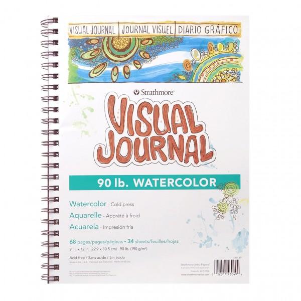 Strathmore - Bloc Visual Journal para Acuarela - 190gr - 22.9x30.5cm - 34 Hojas