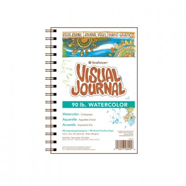Strathmore - Bloc Visual Journal para Acuarela - 190gr - 14x20.3cm - 34 Hojas