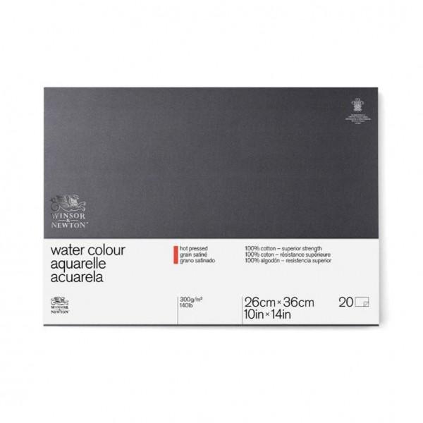 Winsor & Newton - Bloc para Acuarela - 300gr- 26x36cm - 20 Hojas - 100% Algodón - Grano Satinado