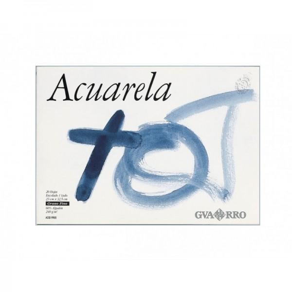 Canson - Bloc para Acuarela Guarro - 240gr- 23x32.5cm - 20 Hojas - Grano Fino