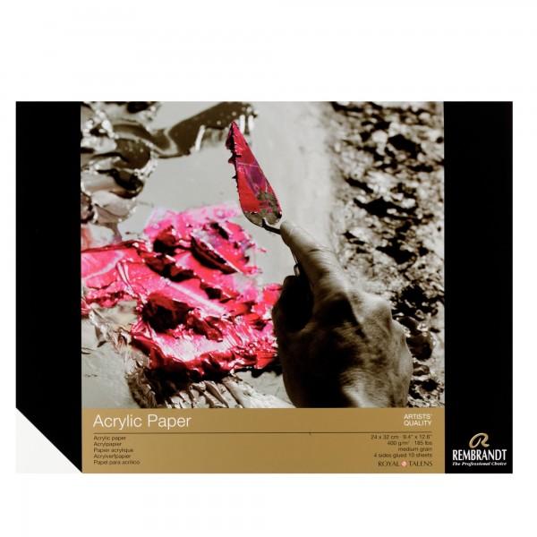 Rembrandt - Acrylic Paper 24x32cm - 400gr - 10 Hojas