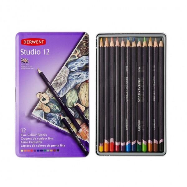 Derwent - Caja de 12 lápices de color - Studio 12