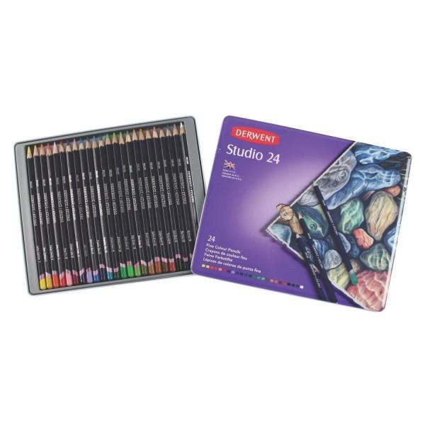 Derwent - Caja de 24 lápices de color - Studio 24