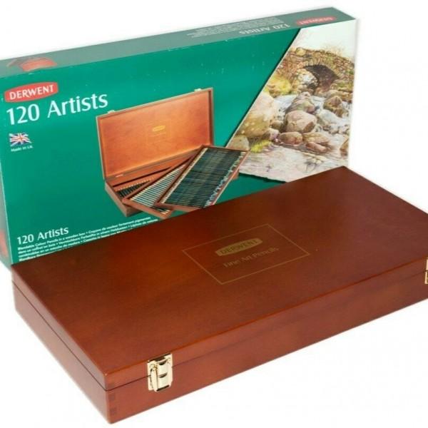 Derwent - Caja de Madera 120 lápices de color - 120 Artists