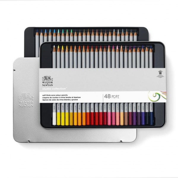 Winsor & Newton - Caja de Lápices - Lápices de color - 48 lápices