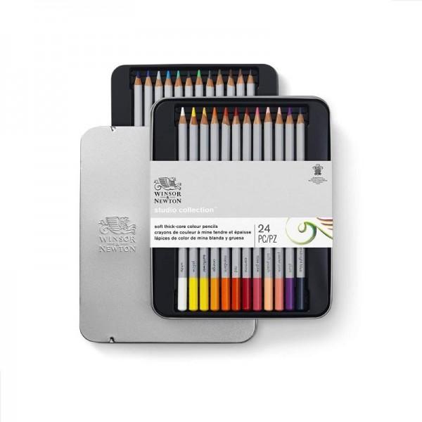 Winsor & Newton - Caja de Lápices - Lápices de color - 24 lápices