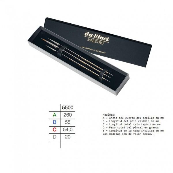 Da Vinci Maestro 5500 Pinceles Serie 10 Redondos nº 5/0 - 0 - 4