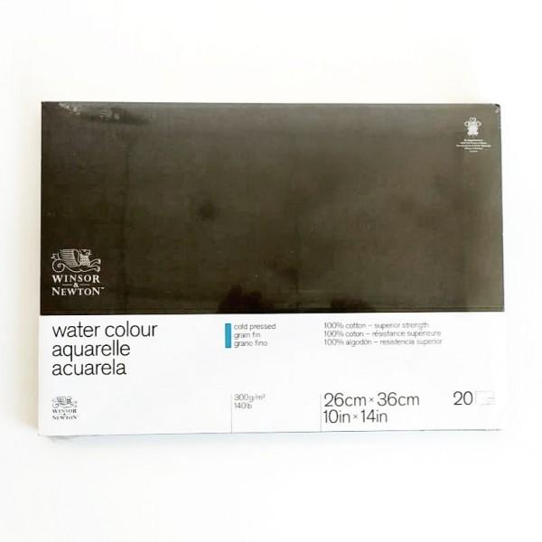 Winsor & Newton - Bloc para Acuarela - 300gr- 26x36cm - 20 Hojas - 100% Algodón - Grano Fino