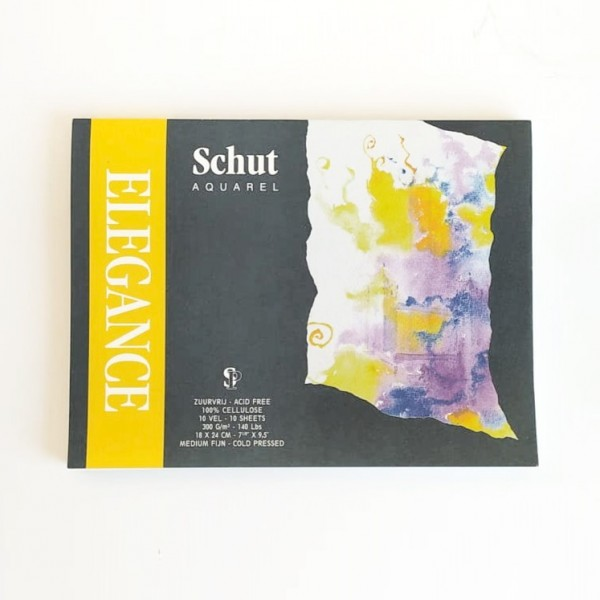 Schut - Bloc Elegance para Acuarela - 300gr- 18x24cm - 10 Hojas - Grano Medio