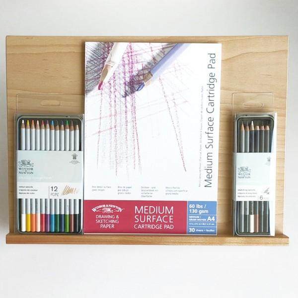 Winsor & Newton - Set Atril con lápices y bloc