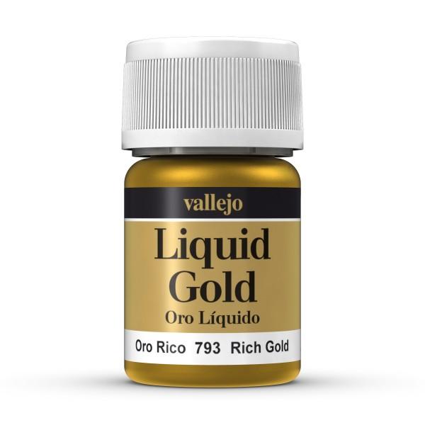 Vallejo - Pintura Liquid Gold - Oro Líquido nº 793 - Oro rico - 35ml