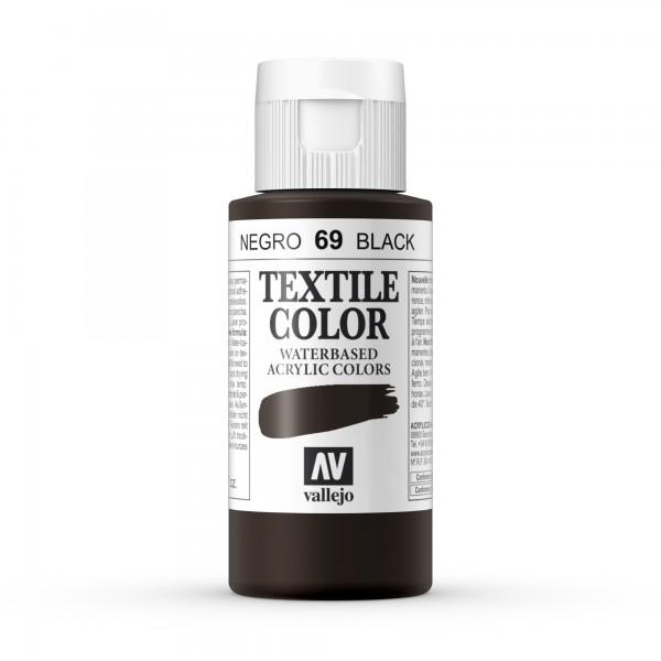Pintura Textil Color Vallejo Número 69 - Color: Negro - 60ml