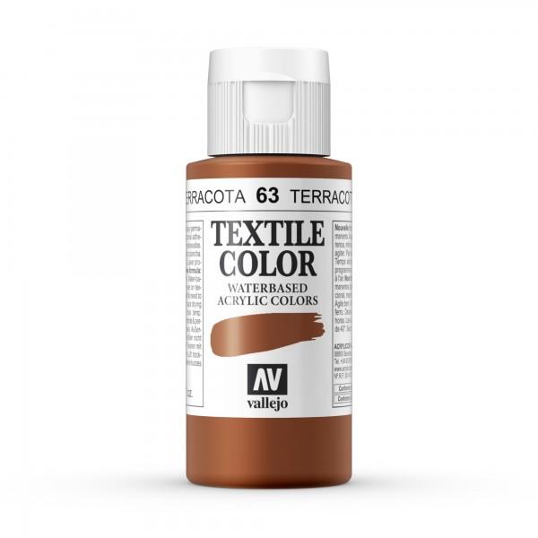 Pintura Textil Color Vallejo Número 63 - Color: Terracota - 60ml
