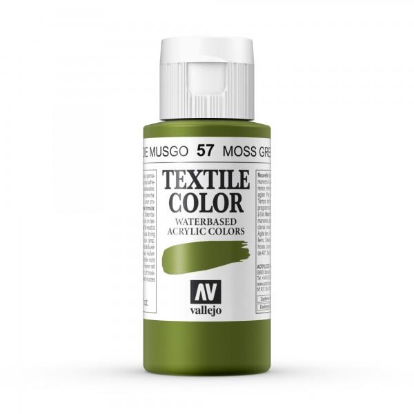 Pintura Textil Color Vallejo Número 57 - Color: Verde Musgo- 60ml