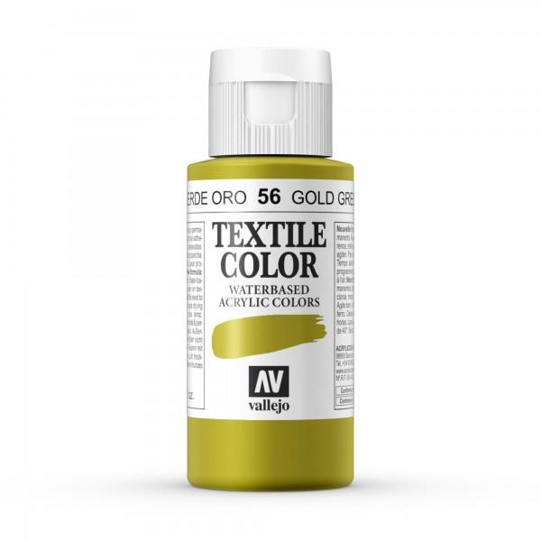 Pintura Textil Color Vallejo Número 56 - Color: Verde Oro - 60ml