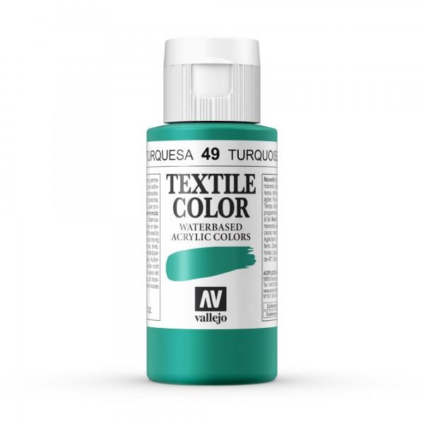 Pintura Textil Color Vallejo Número 49 - Color: Turquesa - 60ml