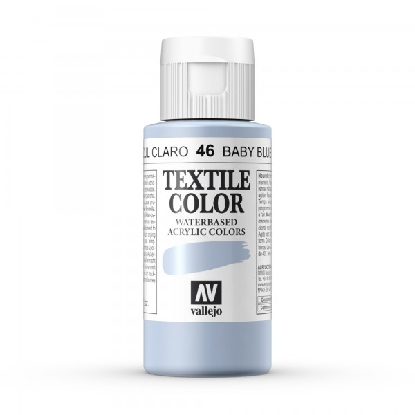 Pintura Textil Color Vallejo Número 46 - Color: Azul Claro - 60ml