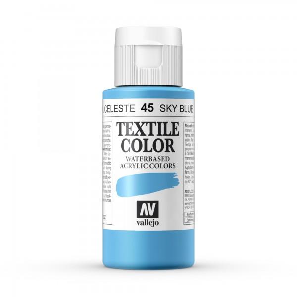 Pintura Textil Color Vallejo Número 45 - Color: Azul Celeste - 60ml