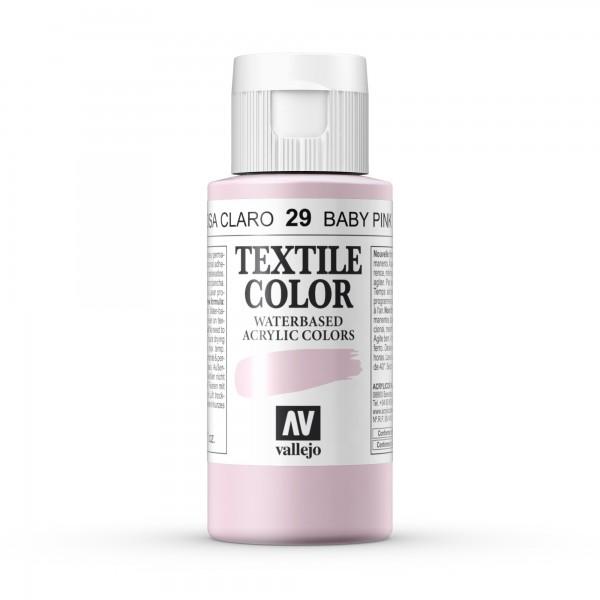 Pintura Textil Color Vallejo Número 29 - Color: Rosa Claro - 60ml
