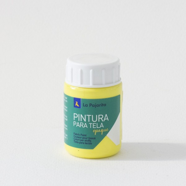Pintura Textil La Pajarita TO-02 Amarillo Limón - 35 ml