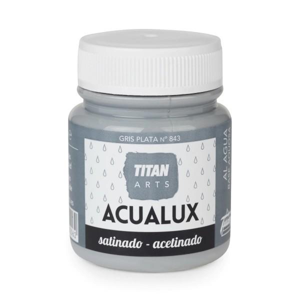 Acualux Satinado 100ml Gris Plata 843