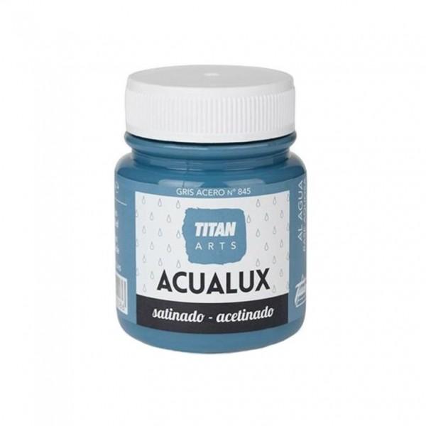 Acualux Satinado 100ml Gris Acero 845