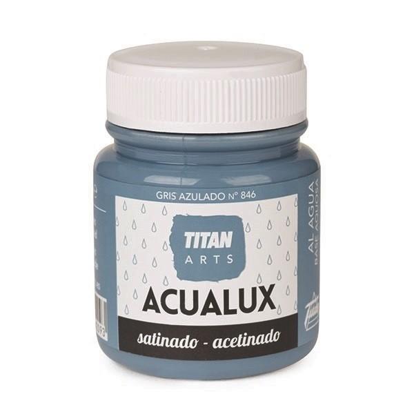 Acualux Satinado 100ml Gris Azulado 846