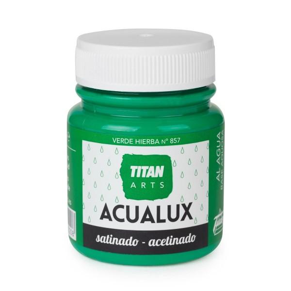 Acualux Satinado 100ml Verde Hierba 857