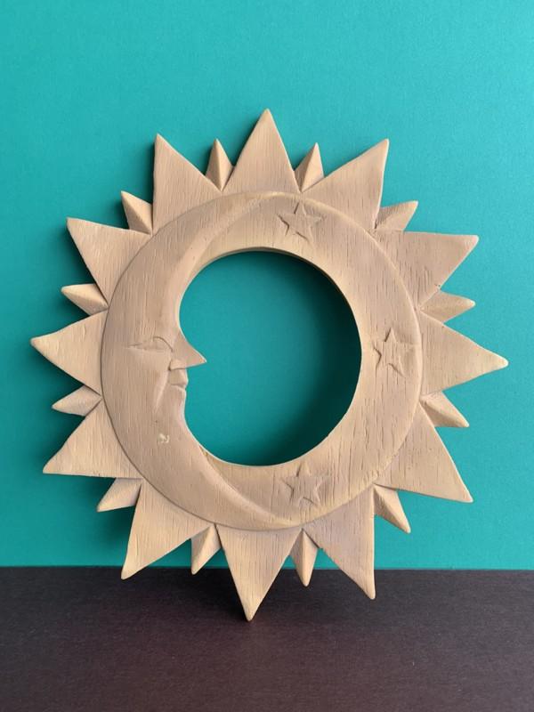 Marco para espejo sol y luna pequeño