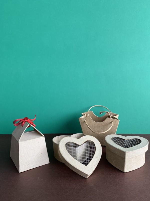 Set de cajitas bombones + cajitas de corazones